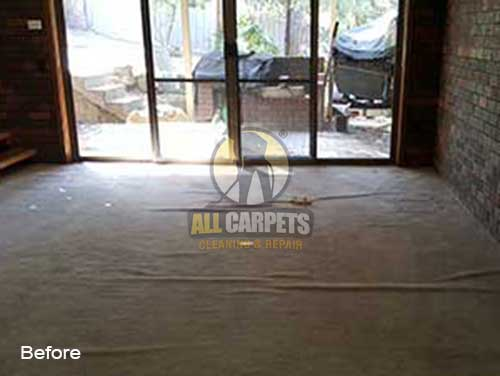 before repairing carpet buckles and ripples because of carpet stretching