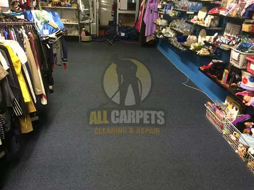 Brisbane clothes shop carpet after cleaning