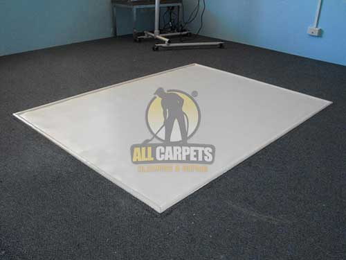 after finishing carpet patching